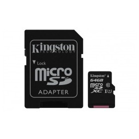 Kingston microSD 64GB - Tarjeta de memoria flash m