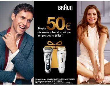 Braun te reembolsa 50 euros por la compra de sus productos